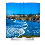 Mendocino C.a. Shower Curtain