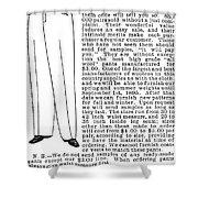 Men's Fashion, 1895 Shower Curtain