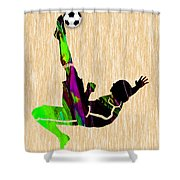 Womans Soccer Shower Curtain