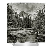 Ascending Clouds Toned Shower Curtain
