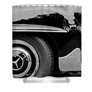 Mercedes-benz Wheel Emblem Shower Curtain