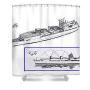 Merchant Marine Conceptual Drawing Shower Curtain