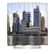 Merlion Park In Singapore 3 Shower Curtain