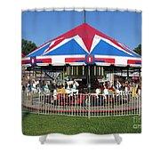 Merry Merry Go Round Shower Curtain