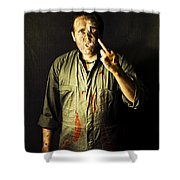 Message From Beyond The Tomb Shower Curtain