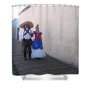 Mexican Revolutionary Re-enactor With His  Lady Helldorado Days Tombstone Arizona 2004 Shower Curtain