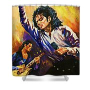 Michael Jackson In Concert Shower Curtain