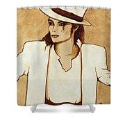 Michael Jackson Original Coffee Painting Shower Curtain