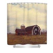 Michigan Barn Shower Curtain