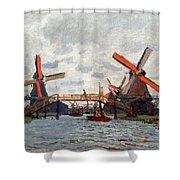 Mills At Westzijderveld Near Zaandam Shower Curtain