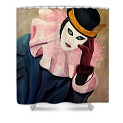 Mime With Thoughts Shower Curtain