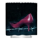 Mind Your Steps Shower Curtain