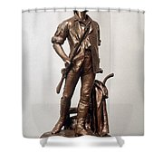 Minutemen Soldier Shower Curtain