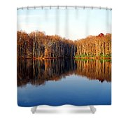 Mirror Lake Panoramic Shower Curtain