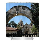 Mission San Carlos Borromeo Del Rio Carmelo Shower Curtain