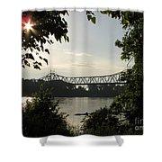Missouri River Sunrise  Shower Curtain