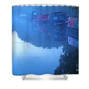 Misty Morning On The Grand Union Canal Shower Curtain