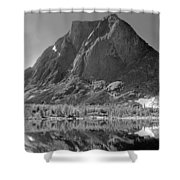 109644-bw-mitchell Peak, Wind Rivers Shower Curtain