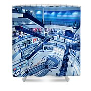 Modern Shopping Mall Interior Shower Curtain