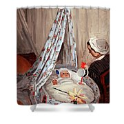 Monet's The Cradle -- Camille With Artist's Son Jean Shower Curtain