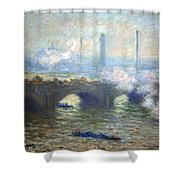 Monet's Waterloo Bridge On A Gray Day Shower Curtain