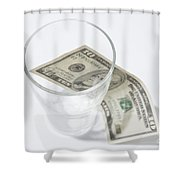 Money And A Glass Shower Curtain