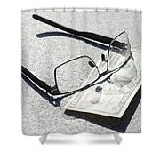 Money And Eyeglasses Shower Curtain