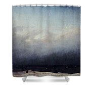 Monk By Sea Shower Curtain