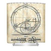 Monocycle Patent 1894 - Vintage Shower Curtain