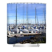 Monterey Harbor California Shower Curtain