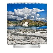 Monticello Lake - Tonale Pass Shower Curtain