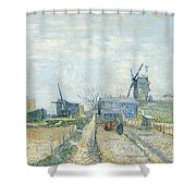 Montmartre Mills And Vegetable Gardens Shower Curtain