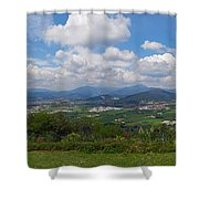 Montorfano. A View To Lake Iseo Shower Curtain