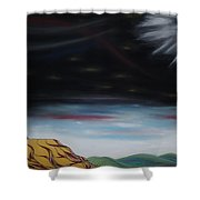 Moon Tower Shower Curtain