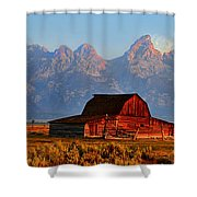 Mormon Row And The Grand Tetons  Shower Curtain