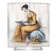 Morning Dress, Fashion Plate Shower Curtain