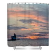 Blue Morning Whispers Shower Curtain
