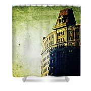 Morningside Heights Green Shower Curtain