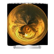 Morphed Art Globe 7 Shower Curtain