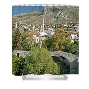 Mostar In Bosnia Herzegovina Shower Curtain