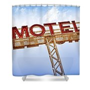 Motel Sign Shower Curtain