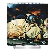 Mother And Child Reunion Shower Curtain