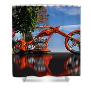 Motorcycle Reflections Shower Curtain
