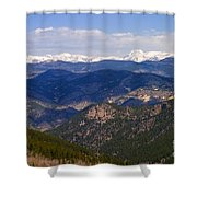 Mount Evans And Continental Divide Shower Curtain