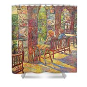 Mountain Lake Evening Shower Curtain