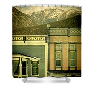 Mountain Town Shower Curtain