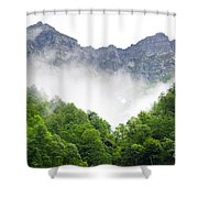 Mountain With Clouds Shower Curtain