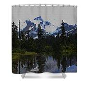 Mt Baker Washington  Shower Curtain