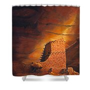 Mummy Cave Ruins Shower Curtain