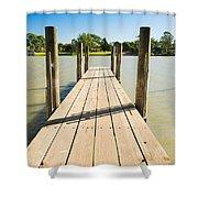 Murray River Jetty Shower Curtain